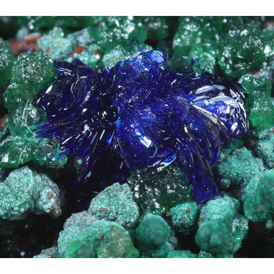 Cuprite Azurite Cuprian Adamite Malachite & Aragonite