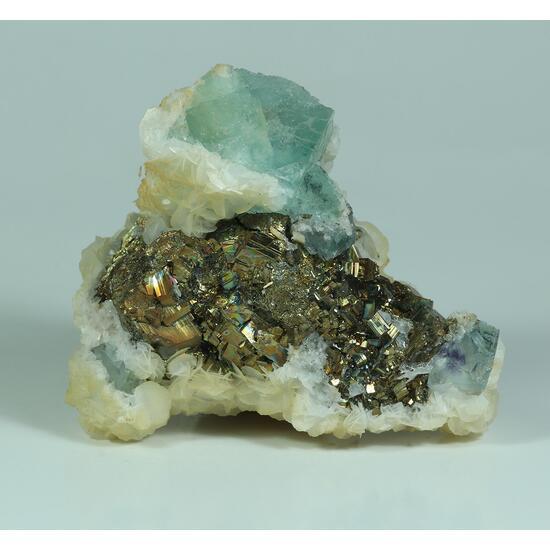 Fluorite Pyrite & Calcite
