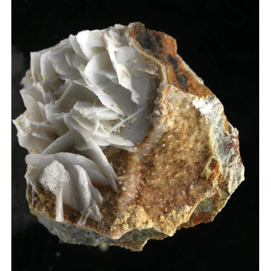 Uranophane-β Calcite & Stilbite