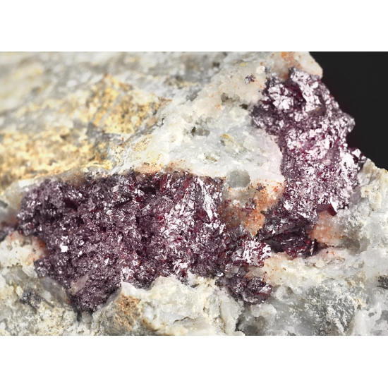 Proustite & Acanthite On Quartz