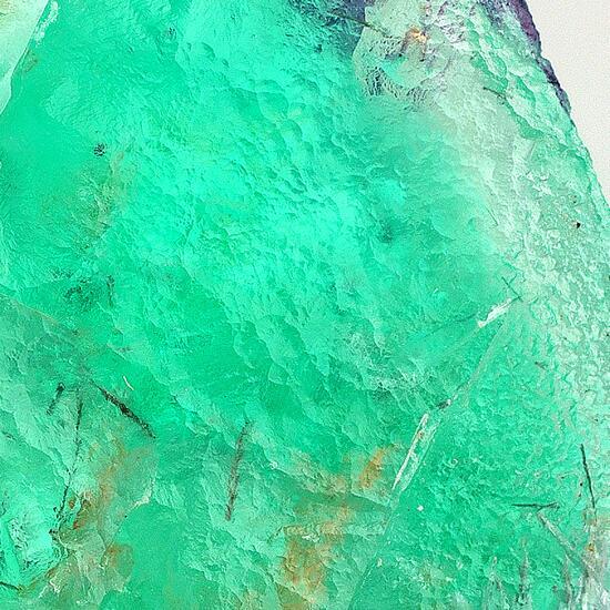 Fluorite On Tourmaline