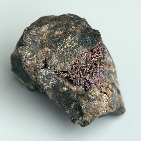 Native Silver & Fluorite