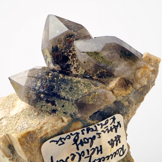 Smoky Quartz On Orthoclase & Pericline