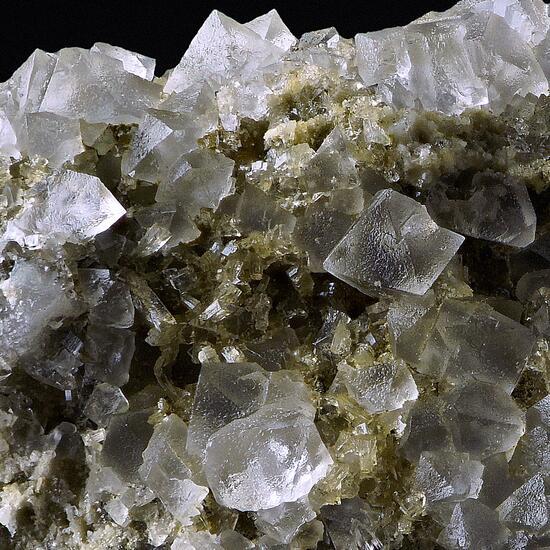Fluorite With Stilbite