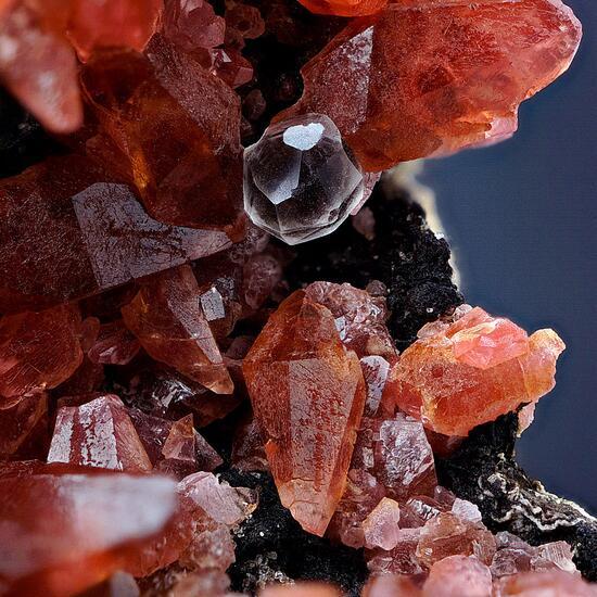 Rhodochrosite With Fluorite