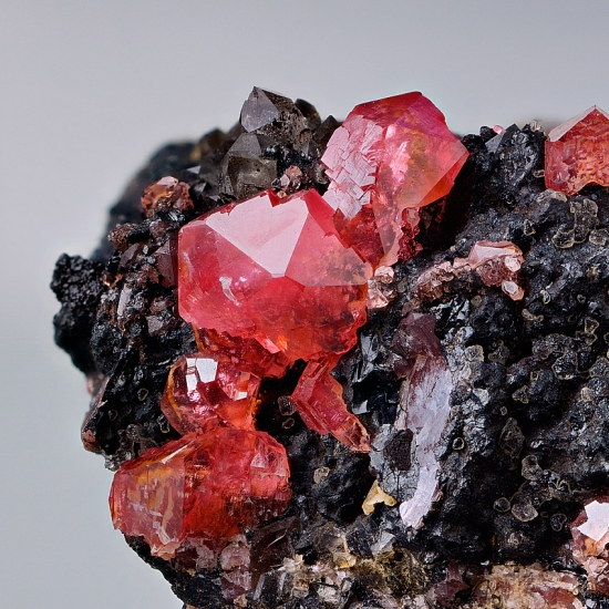 Rhodochrosite With Fluorite & Quartz