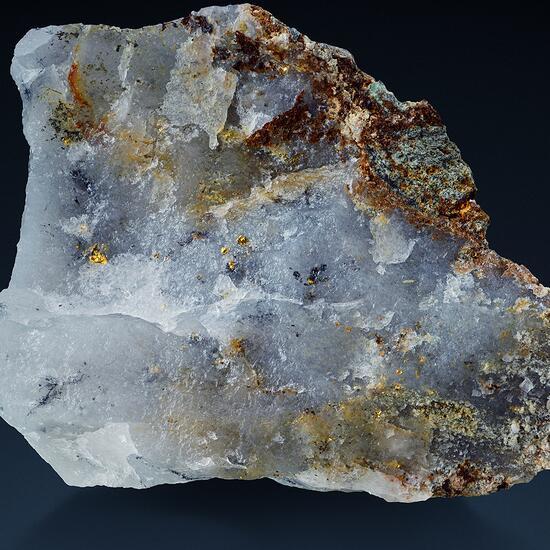 Native Gold In Quartz