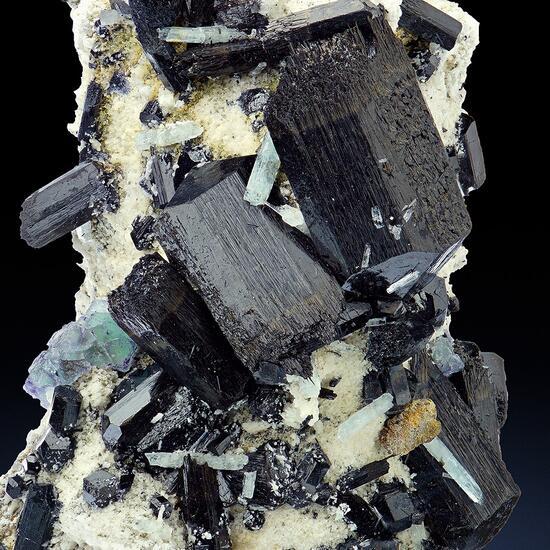 Aquamarine Schorl & Fluorite