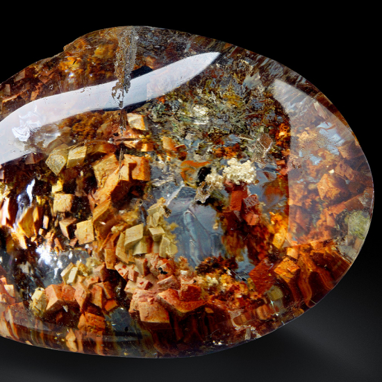Rock Crystal With Siderite Inclusions