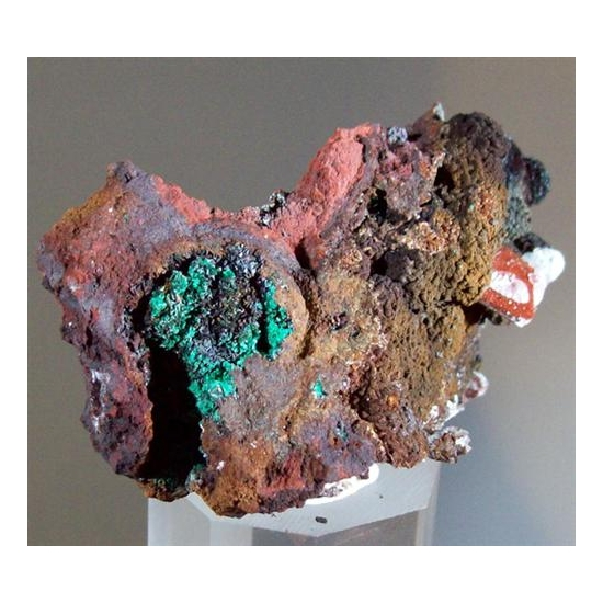 Baryte With Malachite & Aragonite