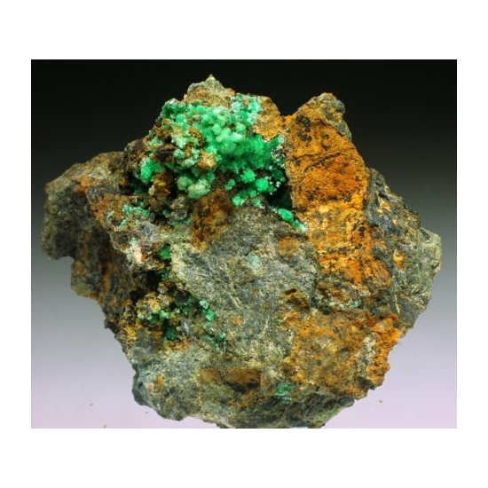 Annabergite Calcite & Cabrerite