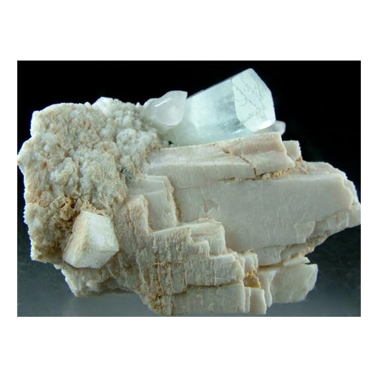 Aquamarine With Quartz & Microcline