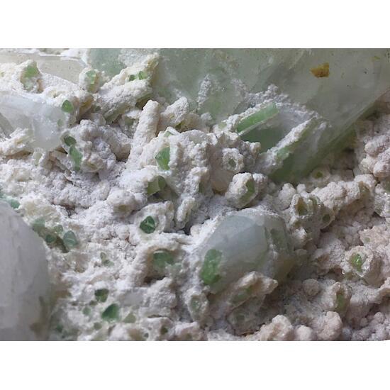 Pollucite With Quartz Tourmaline Kunzite & Goshenite
