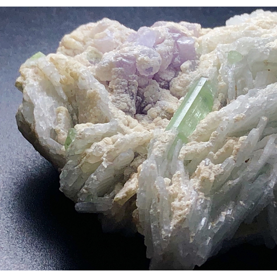 Stibiomicrolite With Tourmaline Phlogopite & Cleavelandite