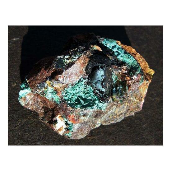 Chrysocolla Psm Malachite & Chalcopyrite