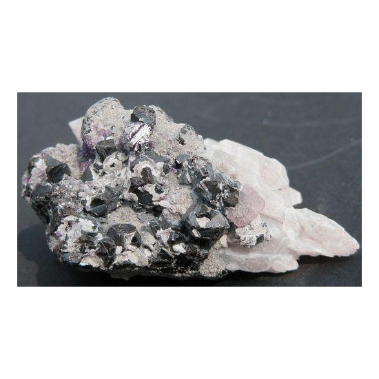 Cassiterite & Fluorite On Quartz