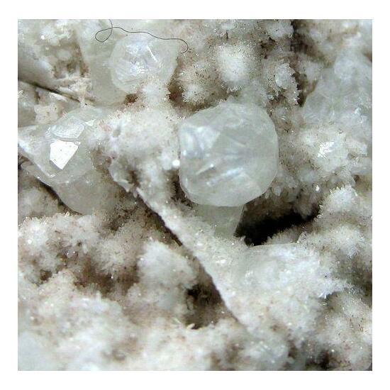 Analcime On Quartz Psm Baryte & Calcite