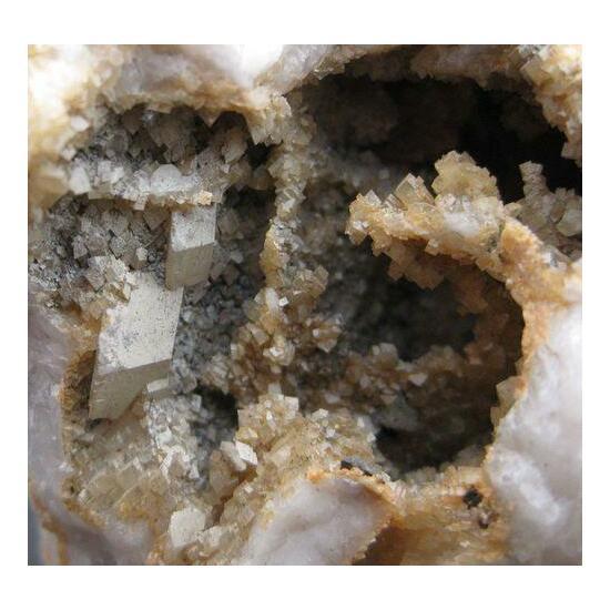 Calcite Dolomite & Chalcopyrite