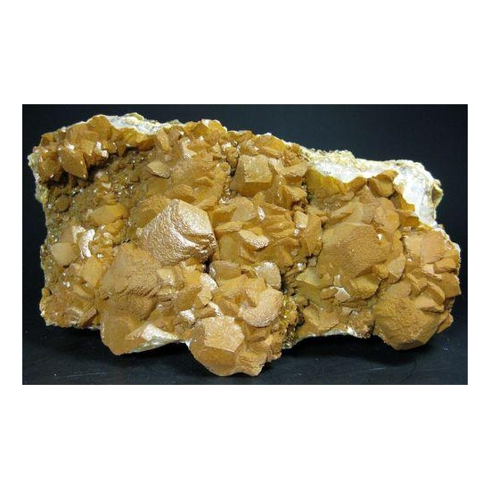 Calcite With Limonite On Dolomite