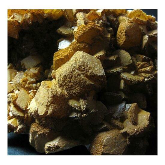 Calcite With Limonite On Dolomite