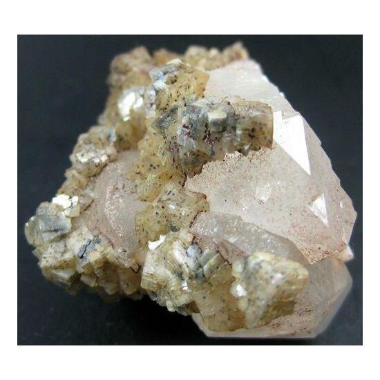 Dolomite With Hematite On Quartz