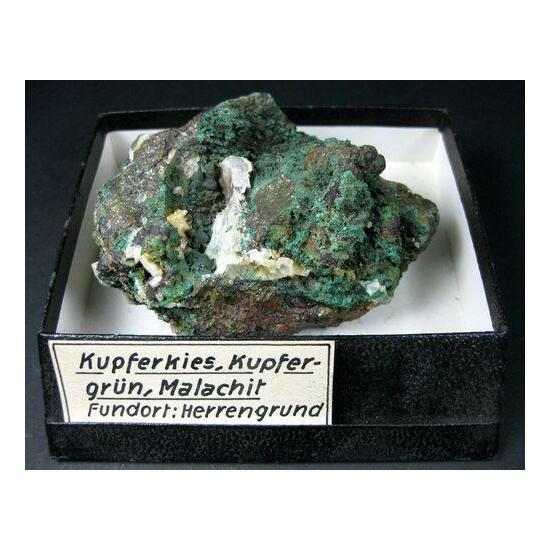 Malachite With Chalcopyrite