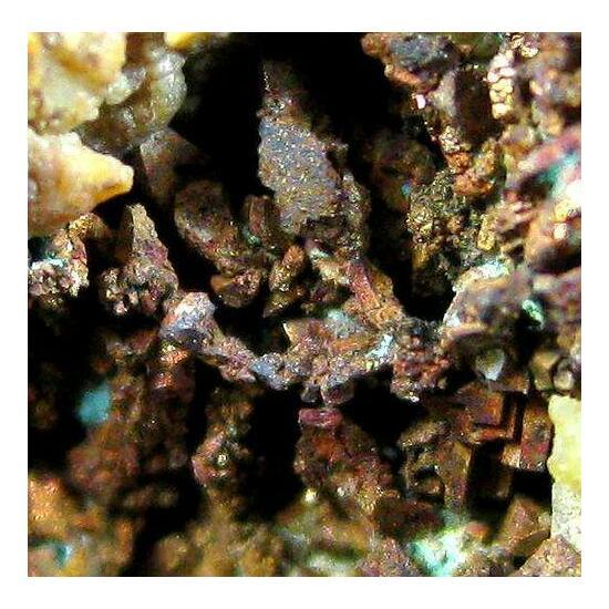 Native Copper On Quartz