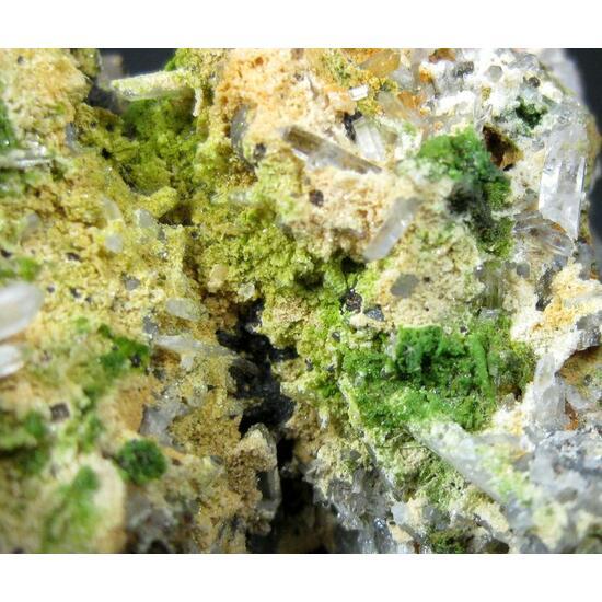 Duftite On Quartz & Calcite