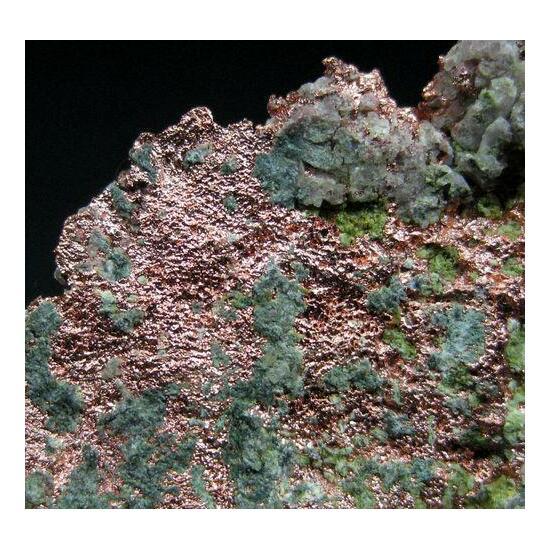 Native Copper With Saponite