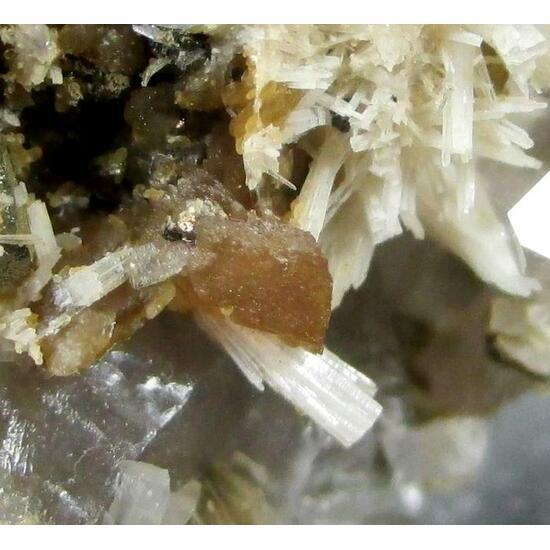 Bertrandite Rhodochrosite Quartz & Pyrite