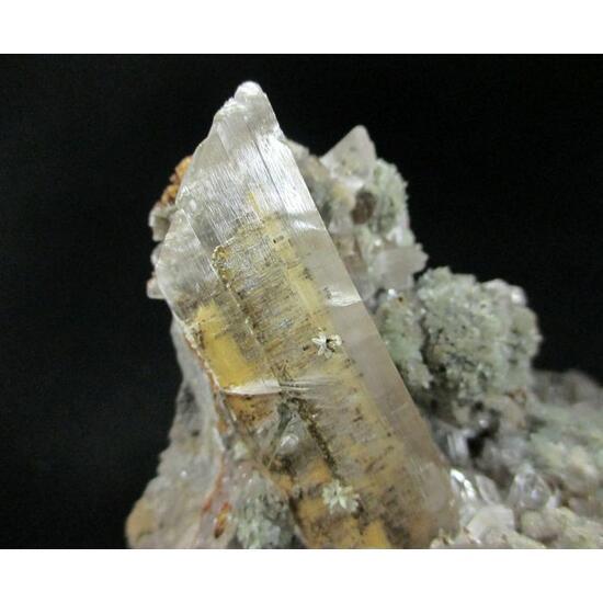 Cuprian Smithsonite Willemite & Gypsum