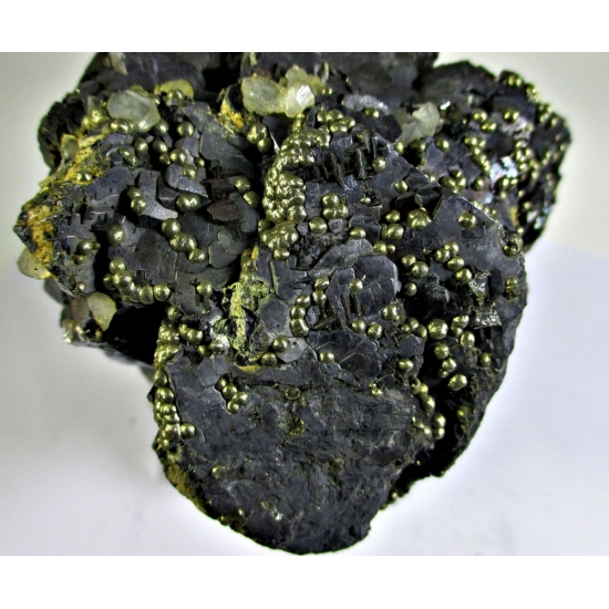 Pyrite On Galena Fluorite & Quartz
