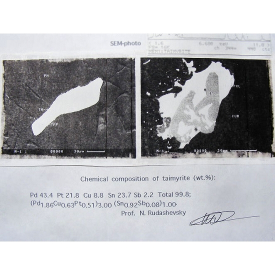Taimyrite Polarite & Tetraferroplatinum