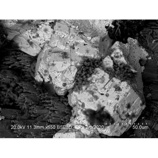 Phosphohedyphane On Malachite