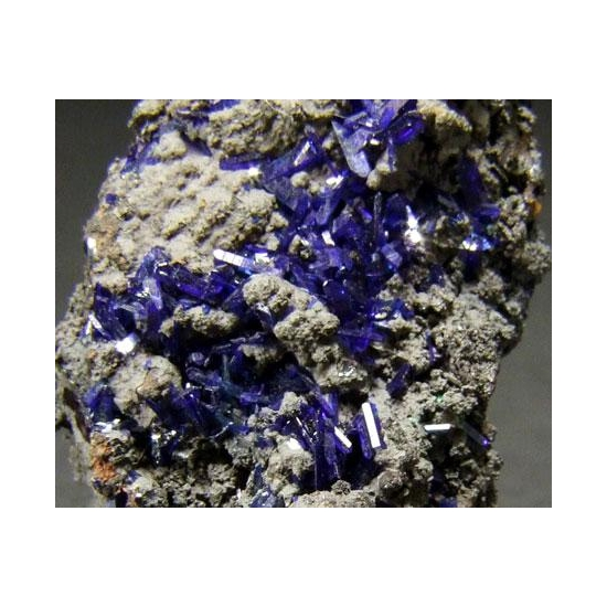 Azurite On Coronadite