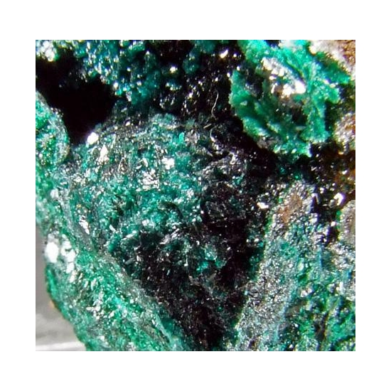 Brochantite & Malachite On Quartz