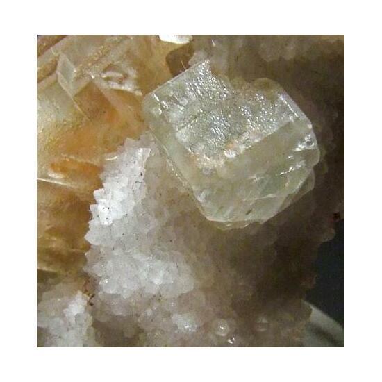 Fluorite On Quartz