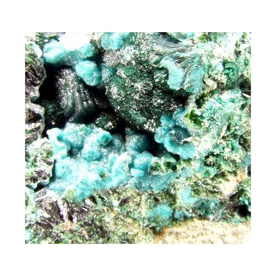 Libethenite Chrysocolla & Malachite