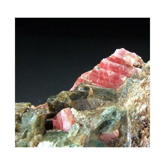 Rhodonite & Manganoan Hedenbergite