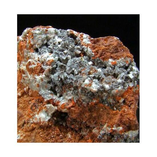 Shannonite & Hydrocerussite On Minium