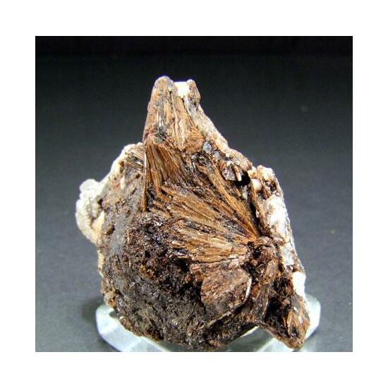 Sturtite On Inesite Rhodochrosite & Calcite