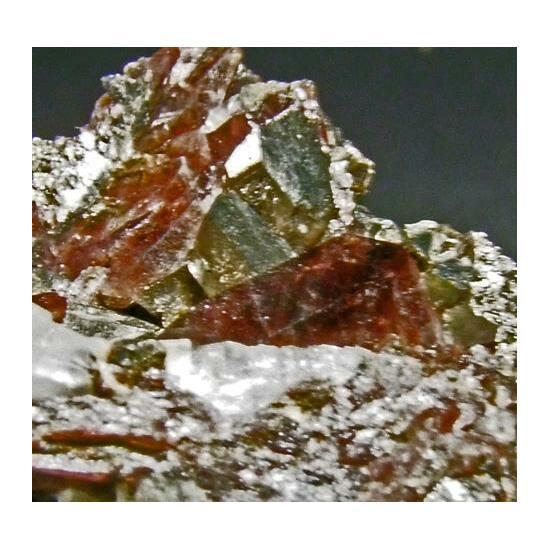 Axinite On Arsenopyrite