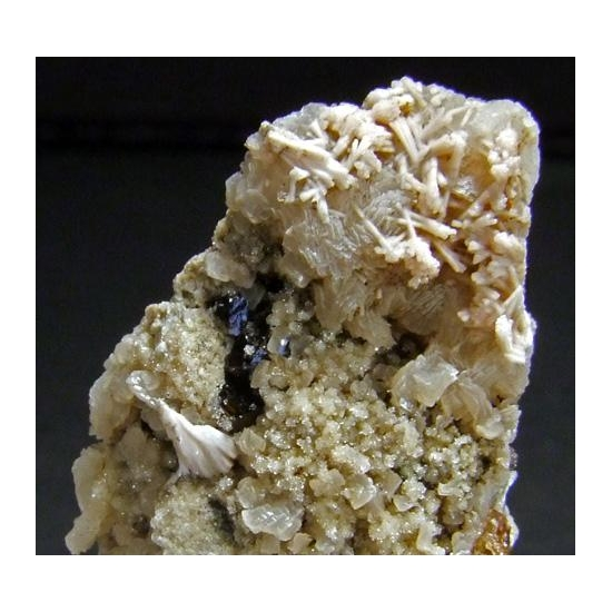 Kutnohorite On Calcite & Andradite