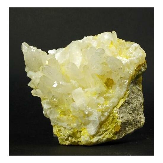 Aragonite On Native Sulphur