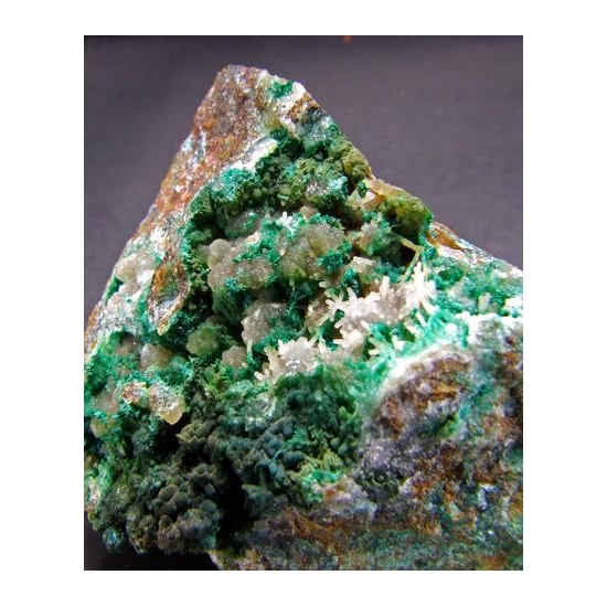 Cornwallite Brochantite & Quartz