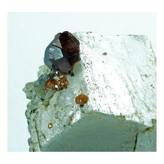 Hessonite On Microcline