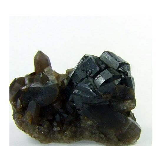 Cassiterite On Smoky Quartz