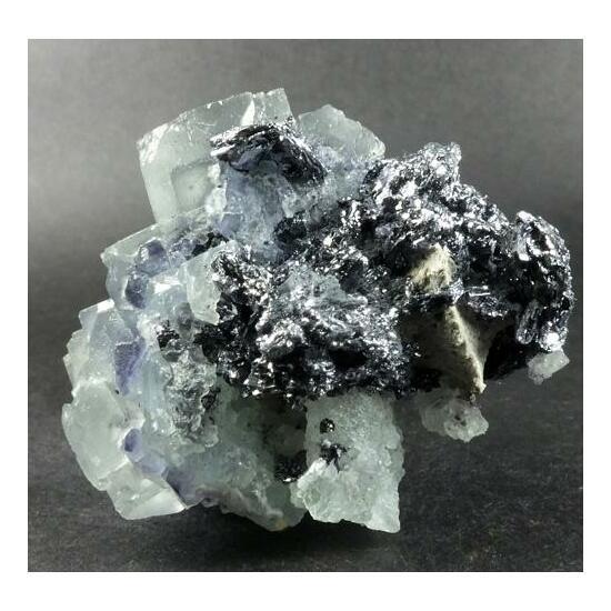 Fluorite On Molybdenite