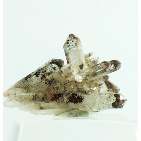 Anatase On Quartz With Hematite Inclusions