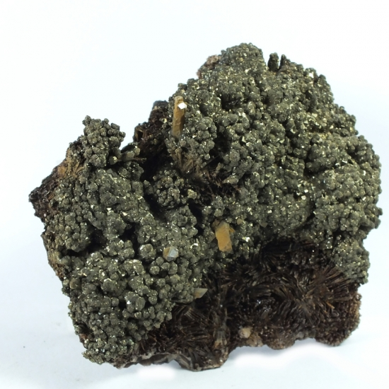 Pyrite On Kutnohorite & Sturtite
